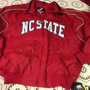 Majestic NC STATE WOLFPACK Fleece Lined Full Zip L
